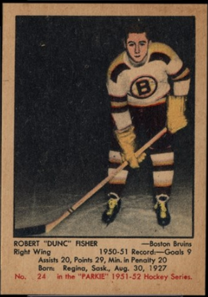 Duncan Fisher hockeycard